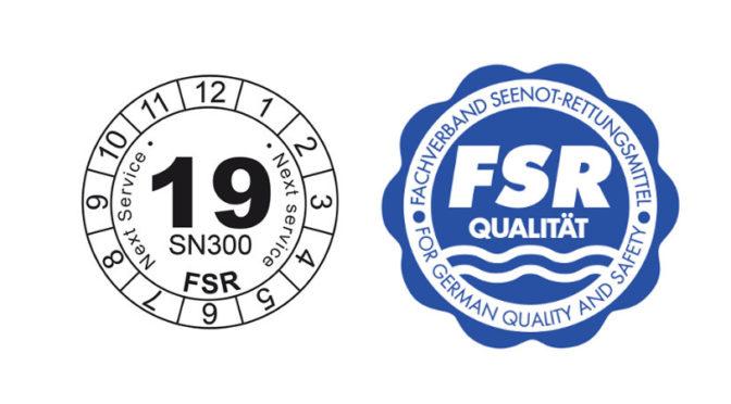 FSR-Qualitätssiegel und Wartungsplakette